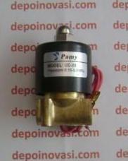 Kran Elektrik LPG Straight Metal 1/4″ AC 220V