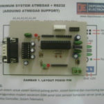Minimum System ATmega8 komplit RS232 dan Support Arduino