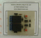 Modul Driver 2 Relay DC 12V + Optoisolator