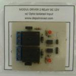 Modul Driver 2 Relay DC 12V + Optoisolator