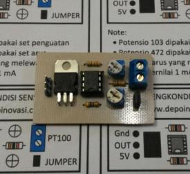 Modul Pengkondisi Sensor PT100