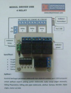 Modul Driver USB 4 Relay