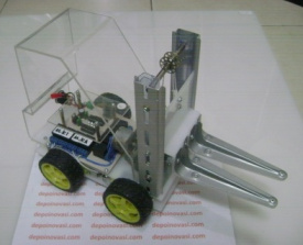 Robot Forklift Terkendali Android