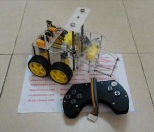 Robot Transporter 4WD Gearbox Kuning