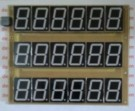 Display 7 Segmen 1,5″ 6 Digit 3 Baris Warna Merah lengkap Koding Arduino
