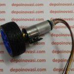 Motor DC Geared 12V 250 RPM komplit Encoder Roda dan Pangkon