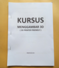 Buku Kursus Menggambar 3D for 3D Printer