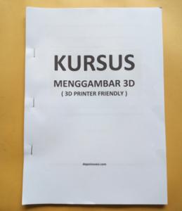 Buku Kursus Menggambar 3D for 3D Printer