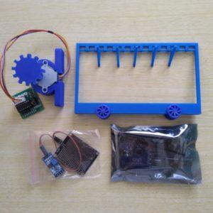 Miniatur Jemuran Berpenggerak Stepper komplit Arduino dan Raindrop