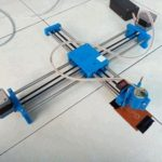 Arduino Robot Drawing Engraving Panjang Sumbu Bagian Stepper 50cm