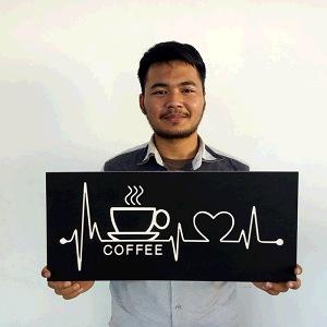 Hiasan Dinding Wall Decor CNC Coffee Lovers