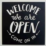 Signage CNC Welcome Open