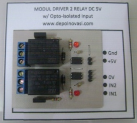 Modul Driver 2 Relay DC 5V + Optoisolator