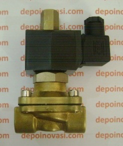 Kran Elektrik Straight Metal 1/2″ AC 220V Tipe Normally Open