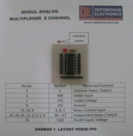 Modul Analog Multiplexer 8ch for Arduino