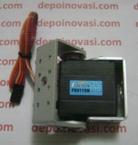 Motor DC Servo 15 Kg.cm Feetech FR0115M + Double U-Bracket