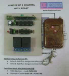 Remote RF 2 Ch (Tx + Rx) With Relay