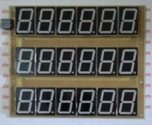 Display 7 Segmen 1,5″ 6 Digit 3 Baris Warna Merah lengkap Koding Arduino
