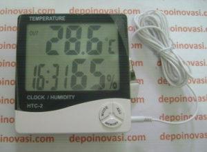 Thermometer + Hygrometer + Clock Digital