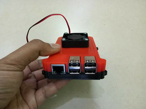Casing Raspberry Pi 3 include Fan 40x40mm with Mounting Vesa