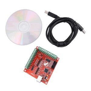 MACH3 USB Breakout Board 4 Axis 100 KHz CNC Controller Driver Kabel CD