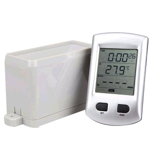 Alat Ukur Curah Hujan Rain Gauge Wireless AW011 with Temperature