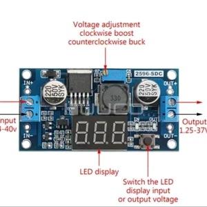LM2596 Stepdown DC To DC Display Voltmeter